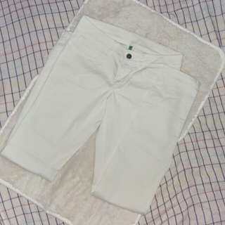 Benetton Straight Cut White Pants