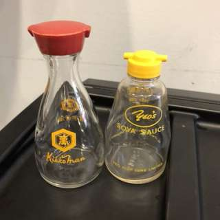 Vintage glass soya sauce Dispenser