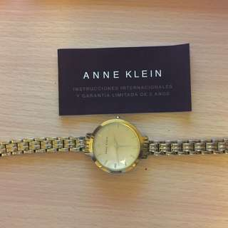 Anne Klein gold Watch With Original Box And Receipt