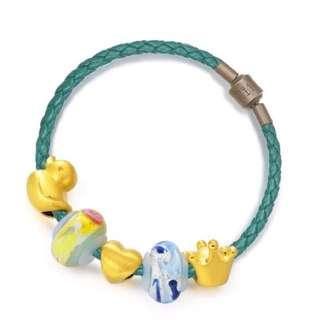 周生生 Chow Sang Sang 彩色玻璃珠組合 足金手鍊 Charme 'Murano Glass Charme Sets' 999 Gold Bracelet