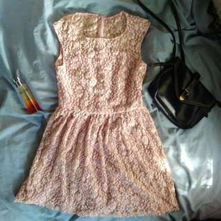 Old Rose Lacey Dress