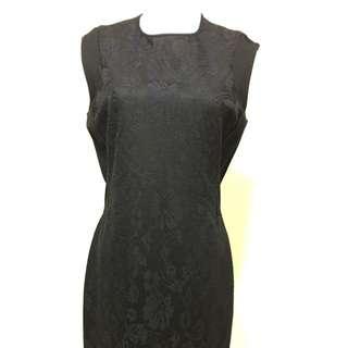 班尼頓黑色蕾絲洋裝