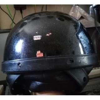 Vintage Metalflake Fiberglass Half Steng Helmet