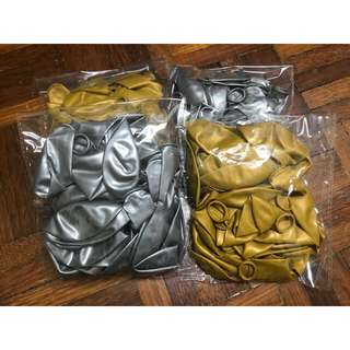 Quality Gold & Silver Balloons (100pcs)