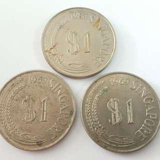 Singapore 1 dollar ( 3 keping )
