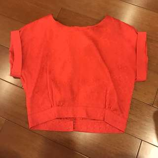 Red Silk Blouse (S)