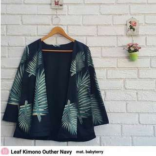 Kimono outer motif daun
