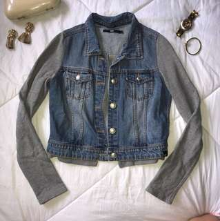 Mossimo Denim and Grey Jacket