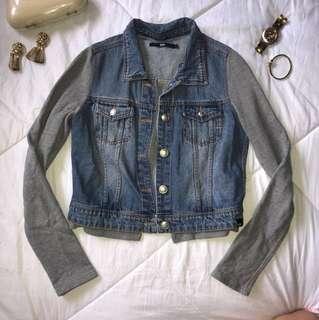 Mossimo Denim and Grey Jacket