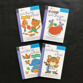 💥 NEW - Kumon - Let's Sticker & Paste! - Children Learning Activity Book
