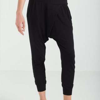 Black Cotton On Body Stretchy Baggy Pants