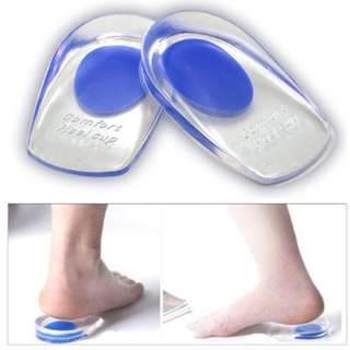 1 Pair Silicone Gel Heel Insoles Support Brand New