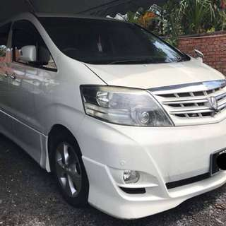SAMBUNG BAYAR  TOYOTA ALPHARD 3.0 MZG FULL SPEC TAHUN 2005/2007 BULANAN RM 1888 BAKI 4 TAHUN LEBIH ROADTAX HIDUP LEATHER SEAT 6 SEATER 2 POWER DOORS POWER BOOT DVD PLAYER SUNROOF/MOON ROOF  DP KLIK wasap.my/60133524312/alphard