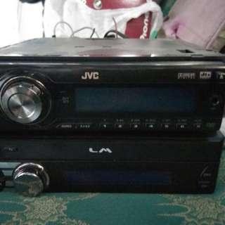 Head unit JVC single Din + Monitor Indash LM