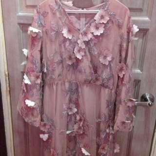 Zalia floral wrap dress
