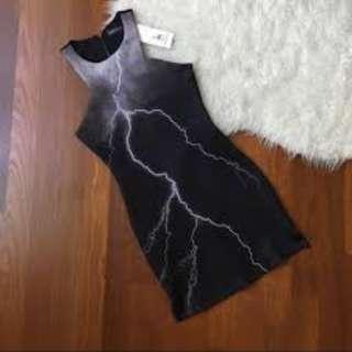 *PRICE LOWERED* Brand New No Tag; Something Borrowed Lightning Dress