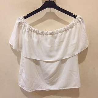 Basic White Off Shoulder Top