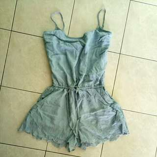 Soft jeans romper #20under