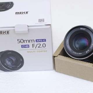 Lensa meike for fujifilm 50mm f2