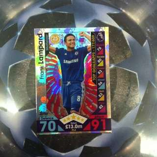 Topps match attax trading card game (frank lampard)