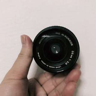 Minolta 35mm f2.8 lens ( Md mount )
