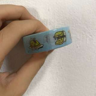 Blue gudetama food washi tape