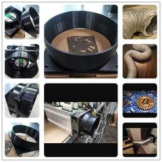 Hose and adapter for your Bitcoins mining machine s9/s3/L3/ducting/duct/tube/ventilation/vent/miner/exhaust/antminer/Bitcoin/gpu/litecoin/dash/Flexible/Aluminum/Aluminium/plus/blockchain/unit/