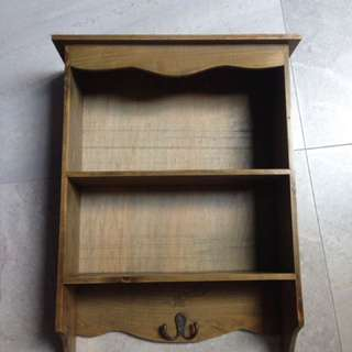 Antique design wooden shelf