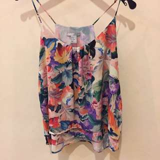 H&M Sleeveless Woven Floral Blouse