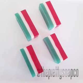 Candy Cane Peppermint Soap Sticks