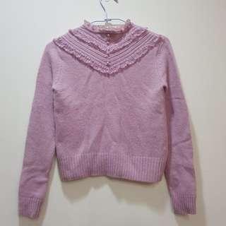 🚚 專櫃品牌POONE粉短毛衣#冬季衣櫃出清