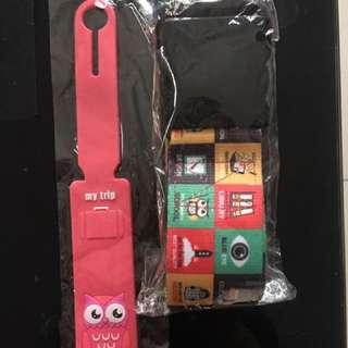 行李捆綁帶(適合20-32寸行李箱),行李牌