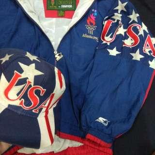 Olympic Team USA Starter Jacket & Logo Athletics Snapback