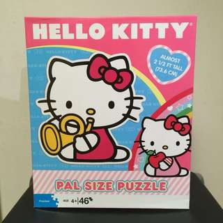 New Puzzle Hello Kitty Pal Size Puzzle 46 pieces Age 4+ and up.