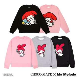 Chocoolate X me Melody 女裝毛衣/衛衣/童裝衛衣