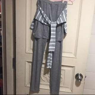 韓版重磅灰色內搭褲 全新