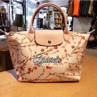 Longchamp Authentic Sakura white