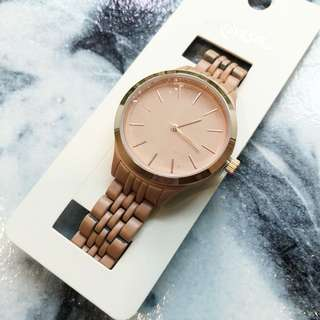 Brand new Louisa nude blush pink rose gold watch metal chain link