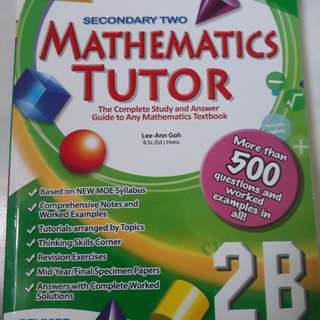 Sec 2 Math Assesment book