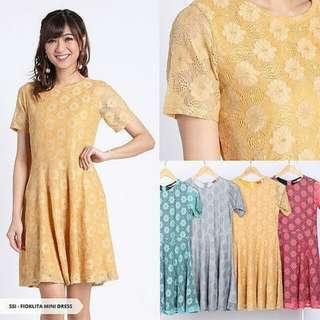 Fioklita Lace Flare Mini Dress