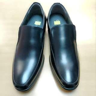 男裝黑色尖頭皮鞋/懶人鞋 /懶佬鞋 (slip-on leather shoes)