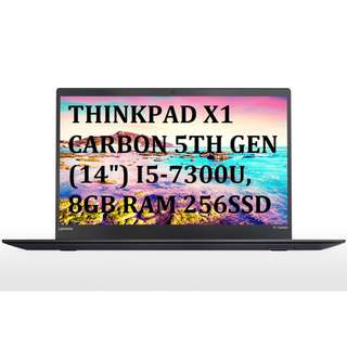 "Lenovo ThinkPad X1 Carbon 5TH GEN - 14"" - Core i5-7300U - 8 GB RAM - 256 SSD"