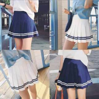 White striped tennis skirt