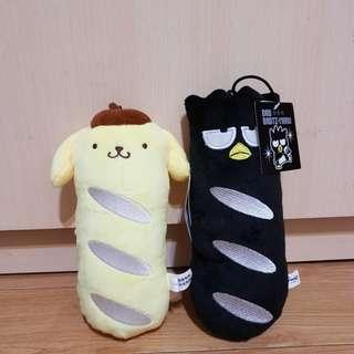 布丁狗酷企鵝法國麵包 三麗鷗娃娃玩偶