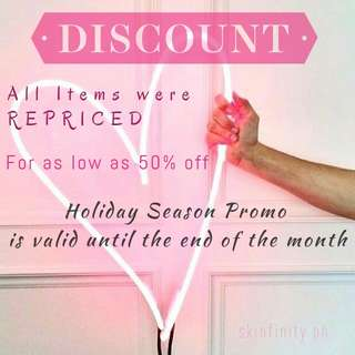 Holiday Season Promo!!! Hurry limited stocks only!!!