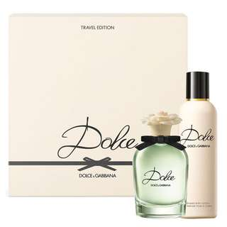 🎄 D&G DOLCE 2 PCS TRAVEL EDITION SET FOR WOMEN  (75ml EDP+Body Lotion) Christmas Giftset