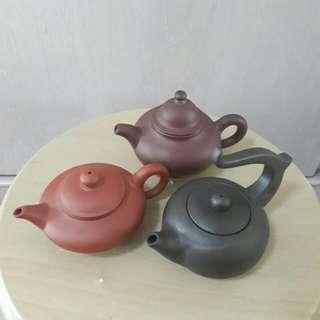 3 Pcs Teapots