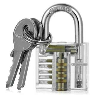 Lockpicking Set with Keys, Tools and Transparent Lock