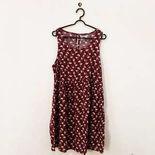 Maroon old navy dress