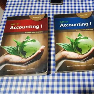 AB1101 -Accounting 1 - Vol 1&2 ($10 for both together)
